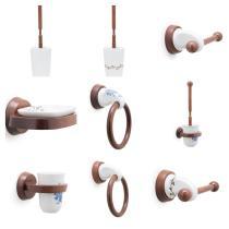 Accesorios baño en madera y porcelana 218 - Escobillero pared Novechento