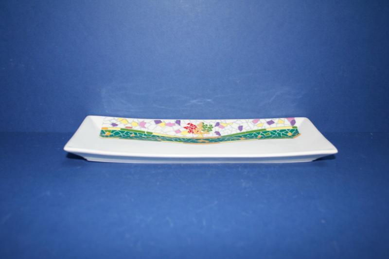 Bandeja de porcelana europa gaud verde ref 835 abc ba o for Accesorios bano porcelana