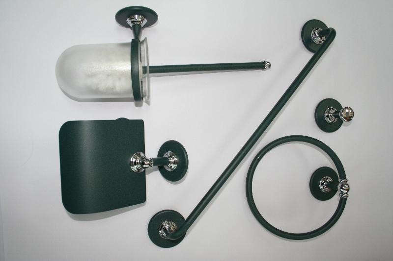 Conjunto accesorios pared 5 piezas ovni verde ref 392 for Accesorios bano verde