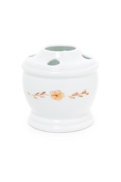 Portacepillos de porcelana toledo novechento marr n ref for Accesorios bano porcelana