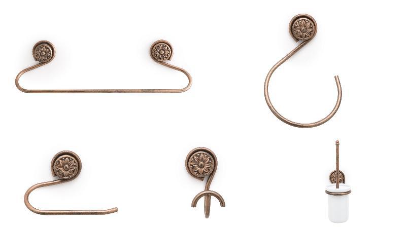 Conjunto accesorios pared bero 5 piezas anticuario ref for Conjunto accesorios bano