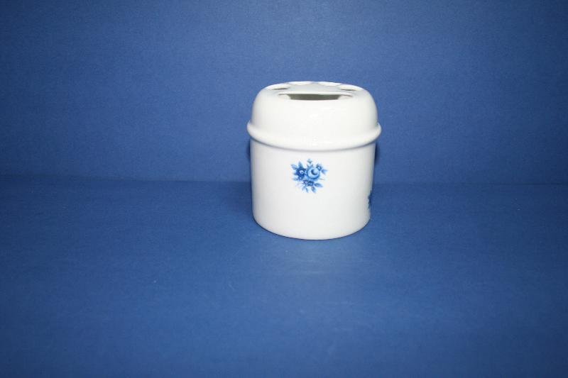 Portacepillos de porcelana roma flor azul ref 961 abc for Accesorios bano porcelana