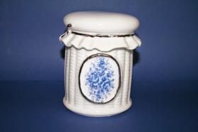 Accesorios baño de encimera en porcelana 471 - Bandeja  de porcelana Lazo oro
