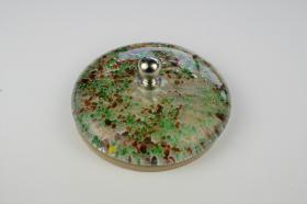 Tapones de lavabo decorados 1431 - Tapón  cristal fusing amarillo-verde-rojo