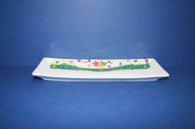 Accesorios baño de encimera en porcelana 835 - Jabonera de porcelana Europa gaudí verde