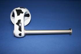 Accesorios baño en latón y porcelana 307 - Portarrollos pared Agua acerado