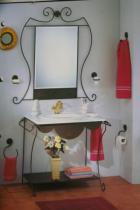 Accesorios baño en forja 619 - Conjunto forja Íbero marrón óxido