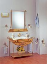 Accesorios baño en forja 1160 - Conjunto forja Versalles  cuero