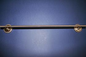 Accesorios baño en latón 853 - Toallero barra pared Neptuno acerado