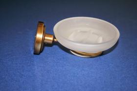 Accesorios baño en latón 760 - Portajabonera pared Neptuno cuero