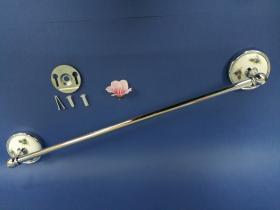 Accesorios baño en latón y porcelana 184 - Toallero barra pared Dor cromo