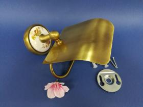 Accesorios baño en latón y porcelana 87 - Portarrollos pared Dor cuero