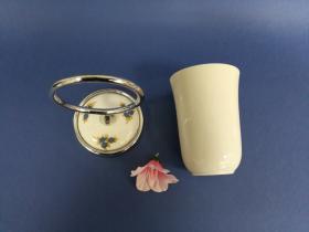 Accesorios baño en latón y porcelana 189 - Portavaso pared Dor cromo