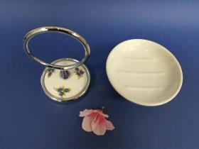 Accesorios baño en latón y porcelana 191 - Portajabonera pared Dor cromo