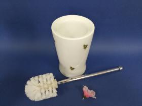 Accesorios baño en latón y porcelana 193 - Escobillero suelo Dor cromo
