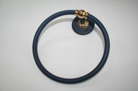Accesorios baño en metal 294 - Anilla lavabo pared Ovni azul