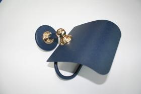 Accesorios baño en metal 295 - Portarrollos pared Ovni azul