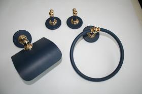 Juego accesorios 4 piezas 892 - Juego accesorios pared 4 piezas Ovni azul