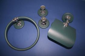Juego accesorios 4 piezas 894 - Juego accesorios pared 4 piezas Ovni verde