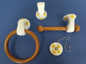 Juego accesorios 4 piezas 1025 - Juego accesorios 4 piezas Venus estrella amarilla
