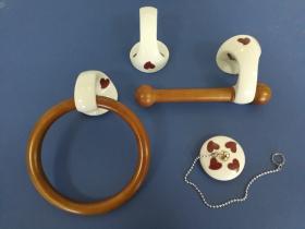 Juego accesorios 4 piezas 1059 - Juego accesorios 4 piezas Agua corazón granate