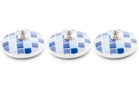 3 tapones porcelana 11201 - Tapón de porcelana 3 unidades corazón granate