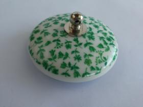 Accesorios baño en latón y porcelana 850 - Tapón lavabo Granada tapiz verde