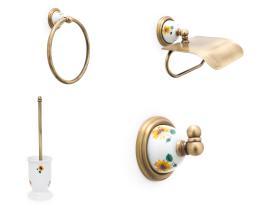 Juego accesorios 4 piezas 461 - Juego accesorios 4 piezas Granada cuero
