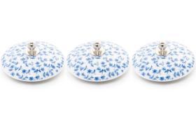 3 tapones porcelana 10926 - Tapón de porcelana 3 unidades tapiz azul