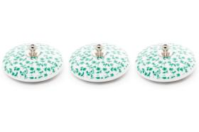 3 tapones porcelana 10927 - Tapón de porcelana 3 unidades tapiz verde
