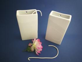 Complementos de baño 601 - Humidificador de porcelana blanco 2 unidades