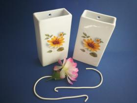 Complementos de baño 6014 - Humidificador de porcelana decorada girasol 2 unidades
