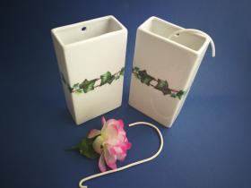 Complementos de baño 6016 - Humidificador de porcelana decorada hiedral 2 unidades