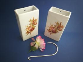 Complementos de baño 6017 - Humidificador de porcelana decorada avellana2 unidades
