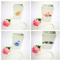 Complementos de baño 5014 - Humidificador de porcelana decoraración surtida 4 unidades