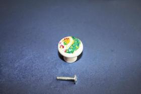 Tiradores de muebles 1218 - Tirador porcelana gaudí verde