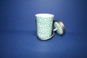 Accesorios baño en latón y porcelana 515 - Portavaso pared Dor acerado