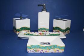 Accesorios baño de encimera en porcelana 831 - Bandeja de porcelana Europa blanco