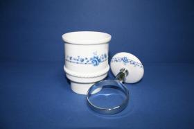 Accesorios baño en latón y porcelana 248 - Portavaso pared Zeus
