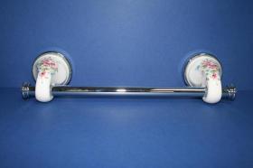 Accesorios baño en latón y porcelana 261 - Toallero barra pared Lys