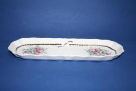 Accesorios baño de encimera en porcelana 4701 - Bandeja  de porcelana Lazo oro