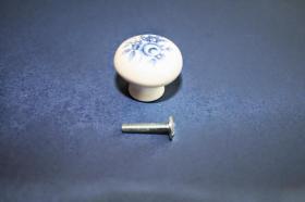 Tiradores de muebles 1205 - Tirador porcelana flor azul