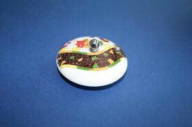 Tapones de lavabo decorados 11337 - Tapón de porcelana laurel verde