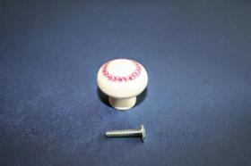 Tiradores de muebles 1220 - Tirador porcelana olimpo rosa