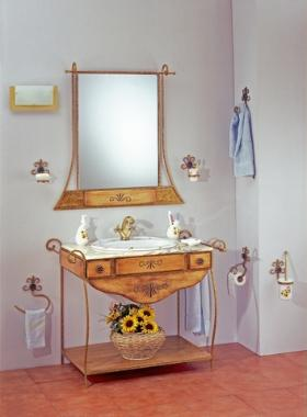 Muebles de ba o forja y madera a precios baratos abc ba o for Muebles de forja baratos