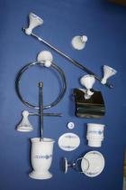 Accesorios de pared Zeus  Accesorios baño en latón y porcelana