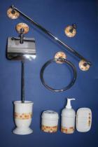 Accesorios de pared Agua lux  Accesorios baño en latón y porcelana
