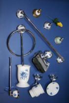 Accesorios de pared Granada  Accesorios baño en latón y porcelana