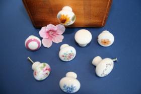 Tirador de porcelana decorado  Tiradores de muebles