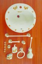 Accesorios de pared Venus  Accesorios baño en madera y porcelana